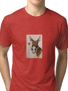 Funny Donkey and Bumble bee Tri-blend T-Shirt