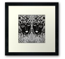"""I Dare You to Love Me"" Mirror Edit Framed Print"