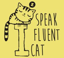 I Speak Fluent Cat One Piece - Short Sleeve
