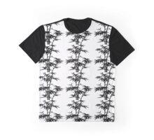 Asian Bamboo Stencil Graphic T-Shirt