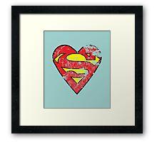 I Love Super man Framed Print