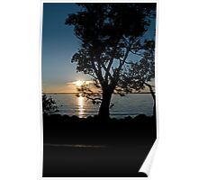 Clear Lake Sunset Poster