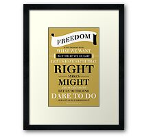 Freedom - Gold Framed Print