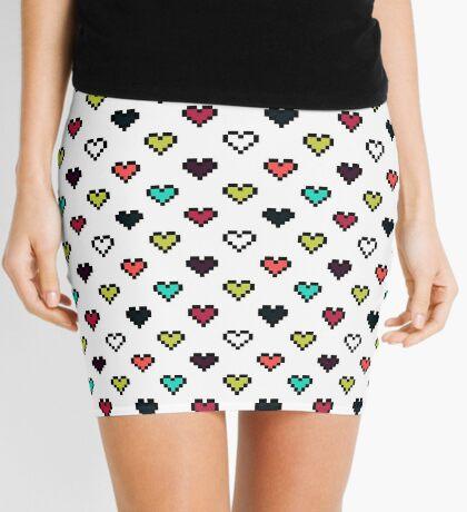 Pixel Hearts Mini Skirt