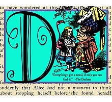 Alice in Wonderland and Through the Looking Glass Alphabet D Photographic Print