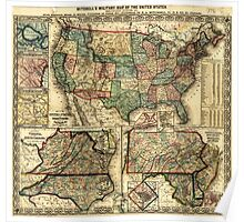 Mitchell's Military Map of the United States (1861) Poster