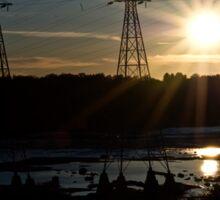 Sunset at Hydro Dam Sticker