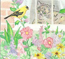 Tweet Tweet Kitty Kitty by Respite Artwork by Respite-Artwork