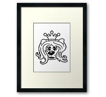 queen princess crown queen face head girl woman female Teddy Bear comic cartoon sweet cute Framed Print