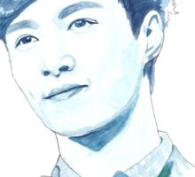 EXO Lay Watercolour Design by NiamhYoungArt Sticker