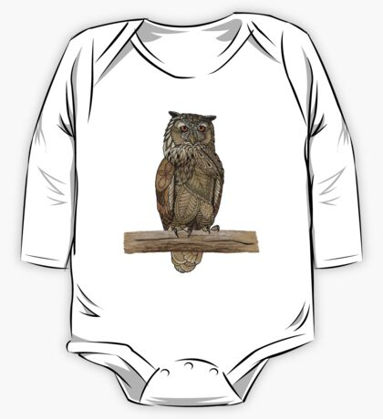 Paper Bag Owl One Piece - Long Sleeve