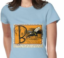 Alice in Wonderland and Through the Looking Glass Alphabet B Womens Fitted T-Shirt