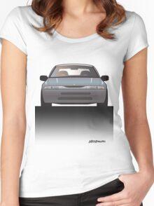 Modern Japanese Icons: Subaru Alcyone SVX (Split) Women's Fitted Scoop T-Shirt