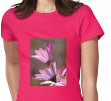 Twin Livingstone Daisies...Garden in Dorset UK Womens Fitted T-Shirt