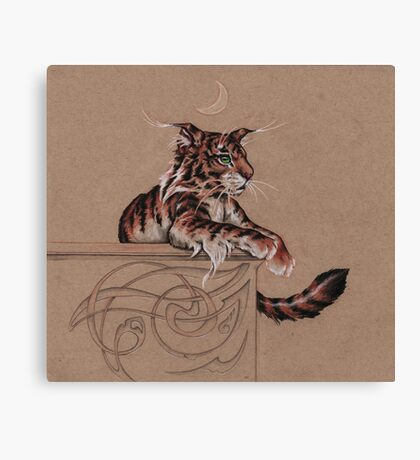 Fairy Tiger - all about the ear tufts Canvas Print