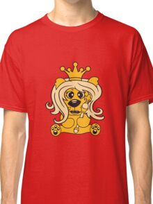 queen crown female princess queen woman scepter sitting Teddy comic cartoon sweet cute Classic T-Shirt