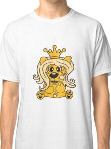 queen crown female princess queen woman scepter sitting Teddy comic cartoon sweet cute Classic T-Shirt