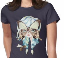 Niella Butterfly Girl Womens Fitted T-Shirt