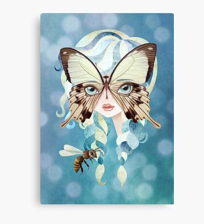 Niella Butterfly Girl Canvas Print