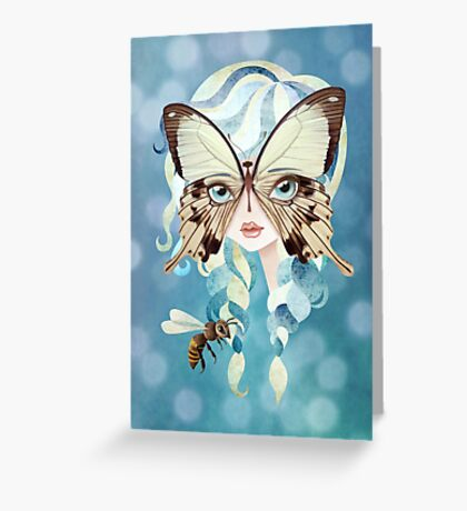 Niella Butterfly Girl Greeting Card