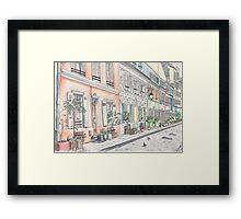 Pastel Street Framed Print