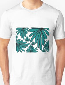 Green fern floral abstract Unisex T-Shirt