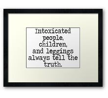 Intoxicated people Framed Print