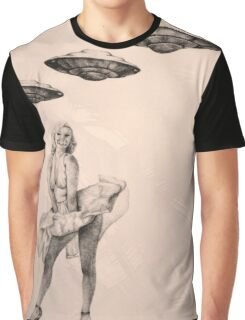 Marilyn Monroe UFO's Silence  Graphic T-Shirt