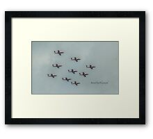 Snowbirds - Canada Day  - Canada's Military Aerobatics or Air Show Flight Demonstration Team Framed Print