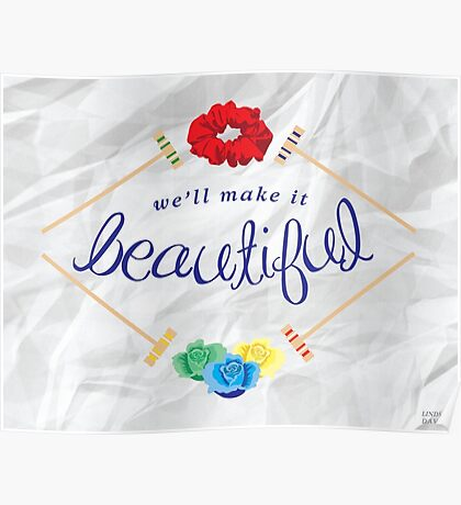 Make It Beautiful — Heathers: the Musical Poster