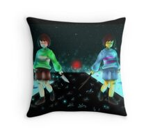 Chara and Frisk Throw Pillow