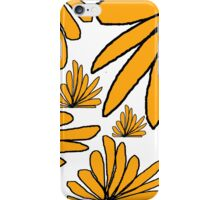 Yellow gold fern floral abstract iPhone Case/Skin