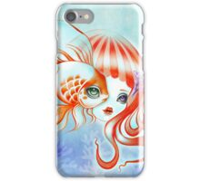 Dreamland Muses - Jellyfish Girl & Goldfish iPhone Case/Skin