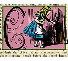 Alice in Wonderland and Through the Looking Glass Alphabet C Photographic Print