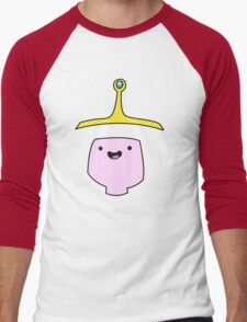 Princess Bubblegum Adventure Time Minimalist Face Men's Baseball ¾ T-Shirt