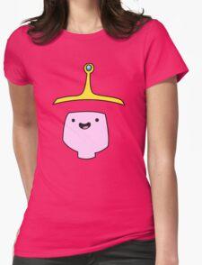 Princess Bubblegum Adventure Time Minimalist Face Womens Fitted T-Shirt