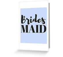 Bridesmaid Bachelorette Party Gifts Greeting Card