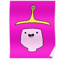 Princess Bubblegum Adventure Time Minimalist Face Poster