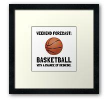 Weekend Forecast Basketball Framed Print