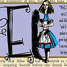Alice in Wonderland and Through the Looking Glass Alphabet E by Samitha Hess Edwards