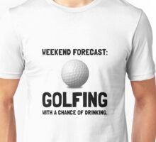Weekend Forecast Golfing Unisex T-Shirt