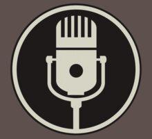 Vintage Microphone (Black BG) One Piece - Short Sleeve