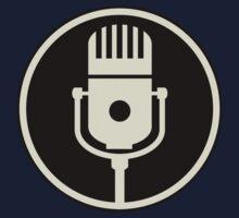 Vintage Microphone (Black BG) One Piece - Long Sleeve