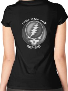 """Grateful Dead """"Fare Thee Well"""" 50th Anniversary Steal Your Face GD50 Women's Fitted Scoop T-Shirt"""
