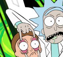 Rick and Morty Delta Chi Sticker