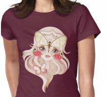 Merolina Moth Girl Womens Fitted T-Shirt