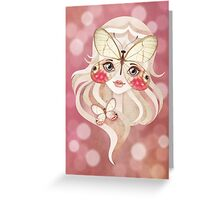 Merolina Moth Girl Greeting Card