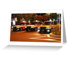 Taxi in Tokyo Greeting Card