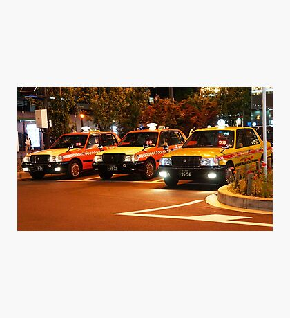 Taxi in Tokyo Photographic Print