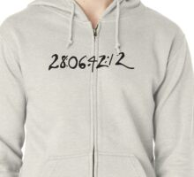Donnie Darko Numbers Zipped Hoodie
